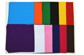 ASSORTED PLAIN COLOR BANDANA
