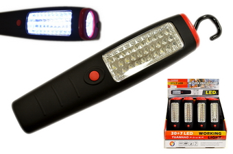 30 + 7 LED WORK LIGHT, 1 DZ DISPLAY BOX