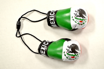 Mexican Flag Boxing Glove, 6 pairs per bag