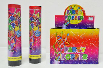8 INCH PARTY POPPER 2DZ BOX