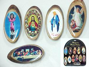 Assorted Religious Wooden Magnets