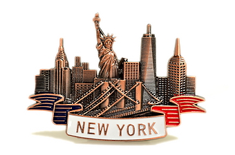 New York City Magnet - Bronze Color