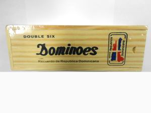 Dominican Flag Dominoes, 1 set wooden box