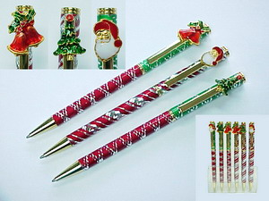 X-MAS DIAMOND CUT PEN 2DZ BOX