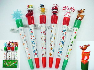 LIGHTUP CHRISTMAS PEN, 1 DZ/BOX