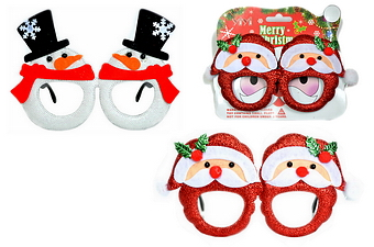 SANTA & SNOWMAN PARTY GLASSES