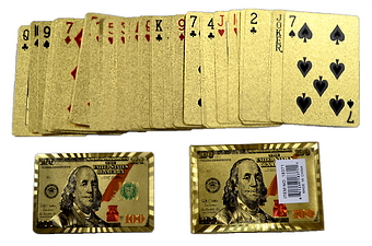GOLD $100 PRINT PLAYING CARDS
