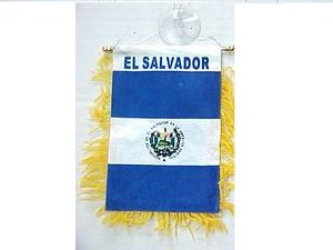El Salvador Mini Flag Banner