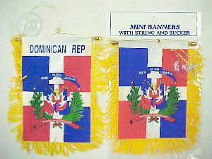 Dominican Flag Mini Banner
