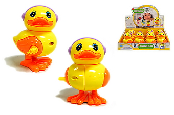 WIND UP YELLOW DUCK WITH HEAD PHONE