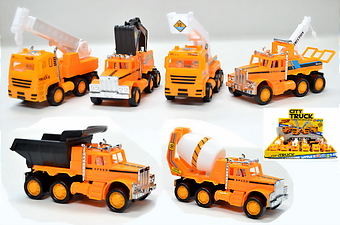 FRICTION CONSTRUCTION TRUCK, 1 DZ DISPLAY BOX