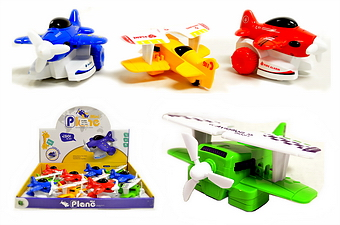 FRICTION TOY AIRPLANE, 1 DZ DISPLAY BOX