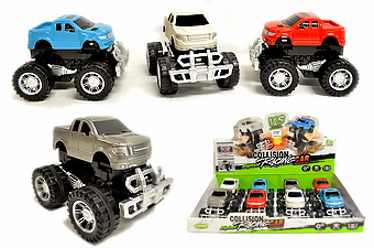 MONSTER PICK UP TOY TRUCK, 8 PC DISPLAY BOX