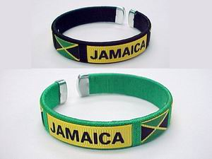 JAMAICA FLAG BANGLE, 1DZ/CAN