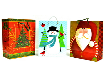 MEDIUM CHRISTMAS GIFT BAG SIZE: 9