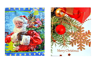Glitter Christmas Gift Bag - size: 10.25x12.5x4 inches