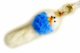 Assorted Color Fur Puppet Key Chain