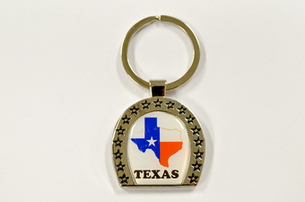 TEXAS HORSE SHOE KEY CHAIN