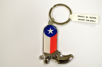 TEXAS COWBOY BOOT KEY CHAIN