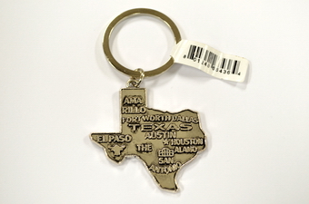 TEXAS STATE MAP KEY CHAIN