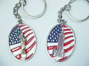 STATUE OF LIBERTY, E S B KEY CHAIN