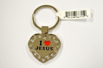 I LOVE JESUS HEART SHAPE KEY CHAIN