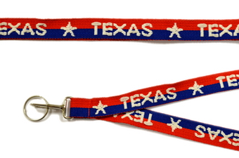 RED, WHITE & BLUE TEXAS LANYARD