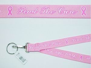 FIND THE CURE LANYARD, PINK COLOR