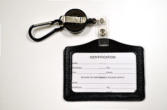 Horizontal ID holder Retractable - Black