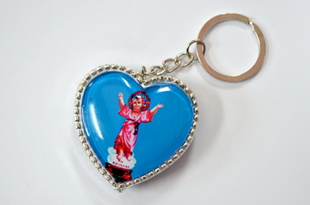 EL NINO HEART SHAPE PLASTIC KEY CHAIN