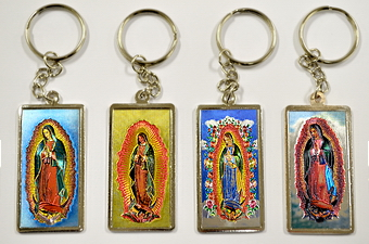 Guadalupe Laser Picture Key Chain