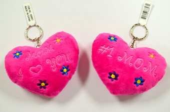 #1 MOM HEART SHAPE PILLOW KEY CHAIN