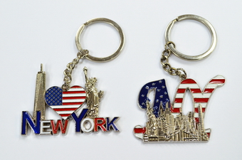 New York USA Flag Key Chain