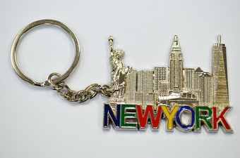 NY Skyline Key Chain