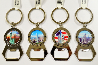 NYC Bottle Cap Opener Key Chain