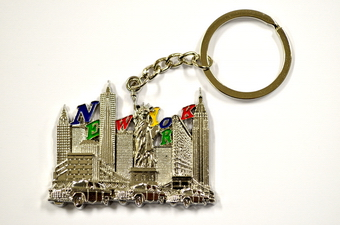 NYC Skyline Key Chain