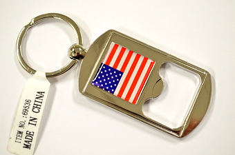 USA Flag Bottle Opener Key Chain