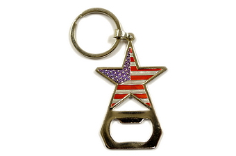 USA Flag Star Shape Bottle Opener KC