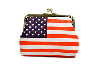 USA FLAG SNAP ON COIN PURSE