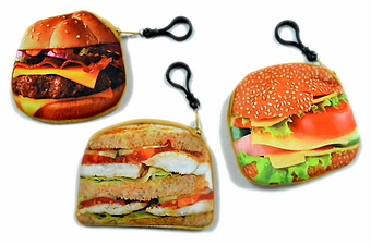HAMBURGER SHAPE COIN PURSE