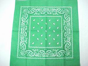 COTTON KELLY GREEN BANDANA