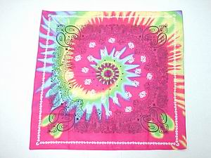 TYE DYE COLOR BANDANNA