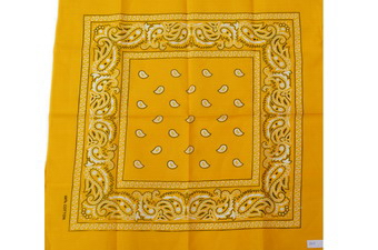 GOLDEN YELLOW PAISLEY BANDANNA