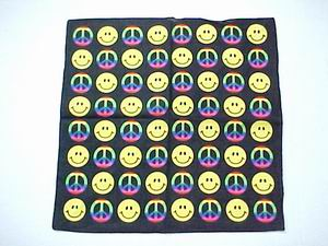 SMILEY & PEACE  BANDANNA