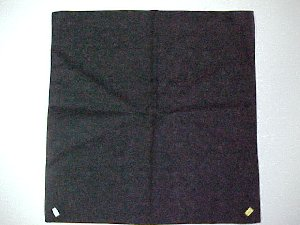 BLACK PLAIN BANDANNA