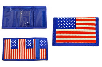 USA FLAG NYLON VELCRO WALLET