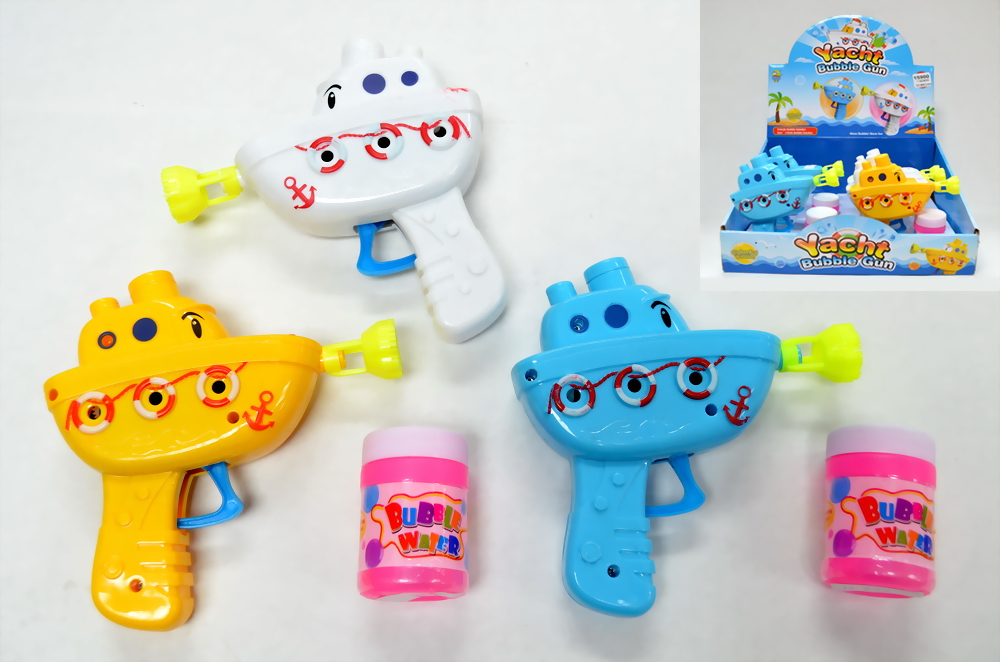 Boat Bubble Gun Toy, 12 pc display box