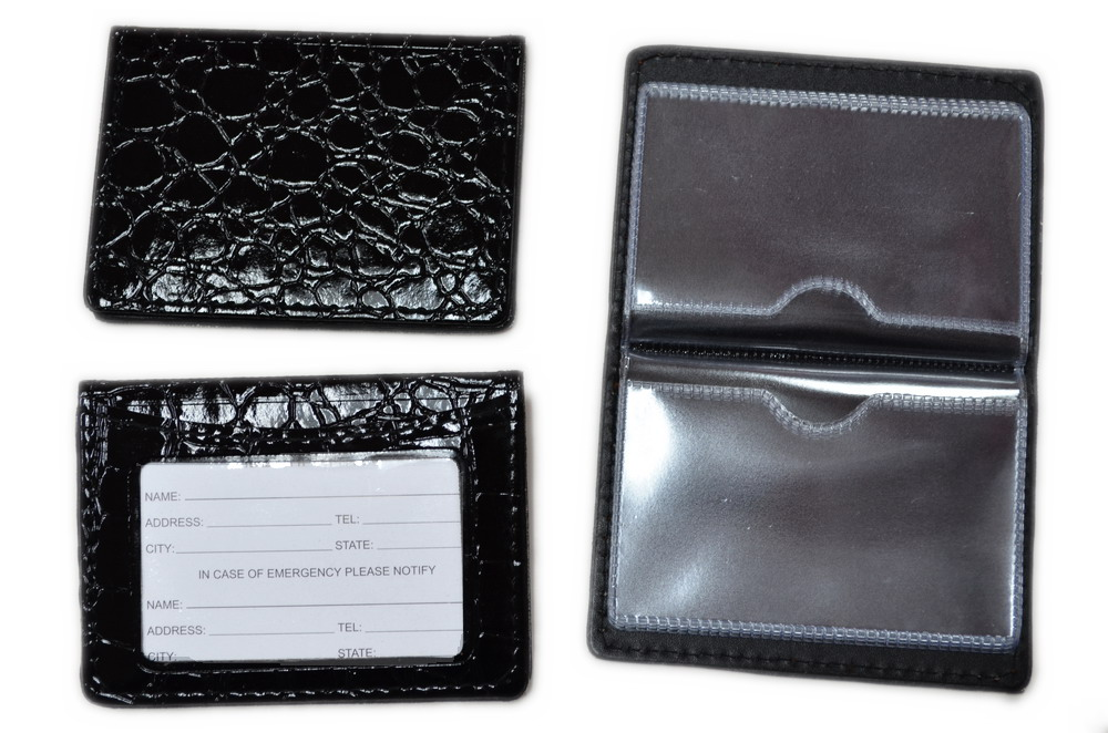 BLK Snake Skin pocket/id holder