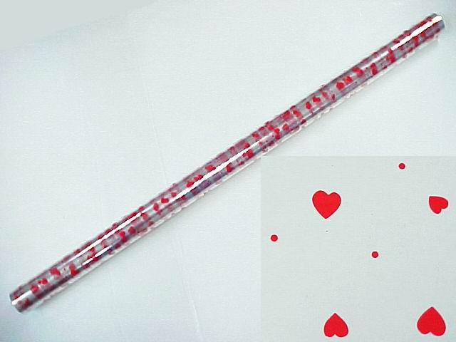 Mini Heart Print Cellophane Paper - 40