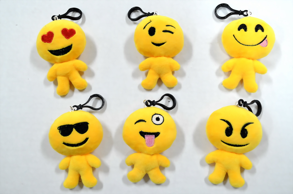 Smiley Man Plush Key Chain